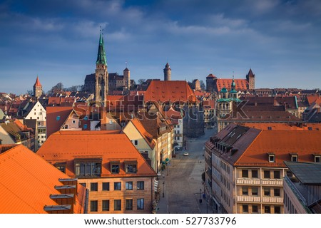 Nuremberg. Image of Nuremberg Alstadt during sunny day.