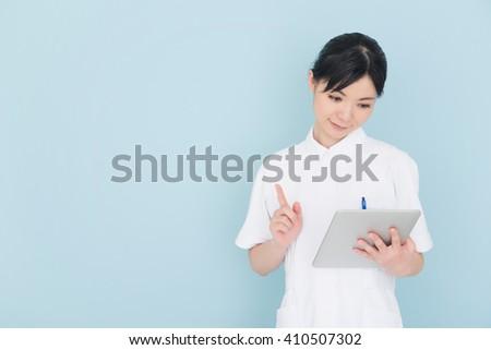 nurse or healthcare worker - stock photo