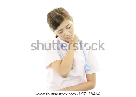 Nurse with shoulder pain.