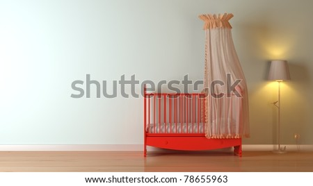 nursery modern interior composition - stock photo