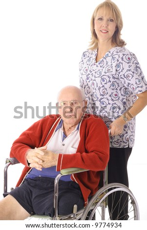 nursing home patient - stock photo