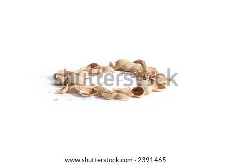 Nut circle isolated on white