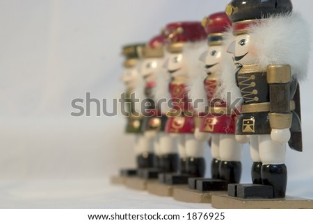 Nutcracker line - stock photo