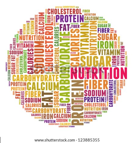 nutrition word collage stock illustration 123885355 shutterstock