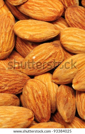 nuts almonds on a white background