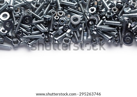 Nuts and bolts background - stock photo