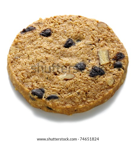 Nuts and chocolate-chip cookie