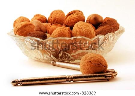 Nuts & Cracker - stock photo