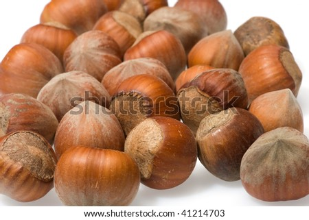 Nuts isolated on white background. See similar.