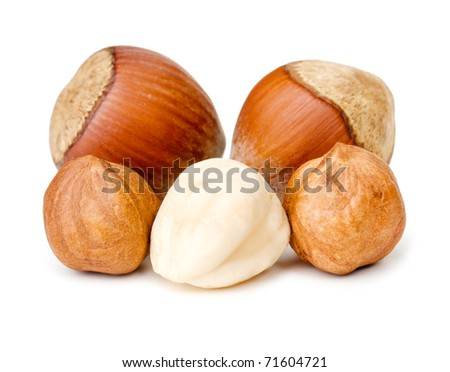 Nuts on white background - stock photo