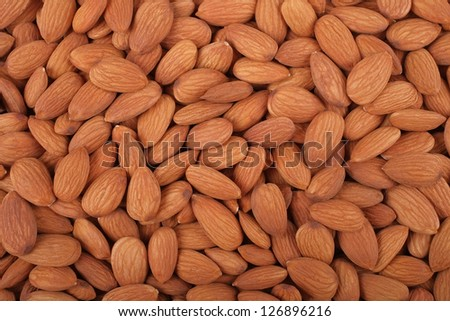 Nutty background - Almonds