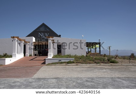 NUY VALLEY WESTERN CAPE SOUTH AFRICA - APRIL 2016 - The Nuy on the Hill venue in the Nuy Valley near Worcester Southern Africa  A tourist wine tasting room, restaurant and wedding location business