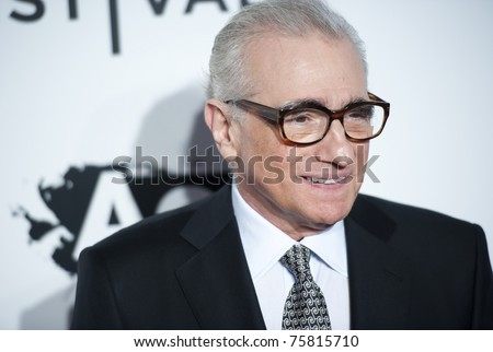 "NYC - APRIL 20 - Director Martin Scorsese arrives for the opening night of the Tribeca Film Festival and world premier of ""The Union"" on April 20, 2011 in New York City, NY - stock photo"