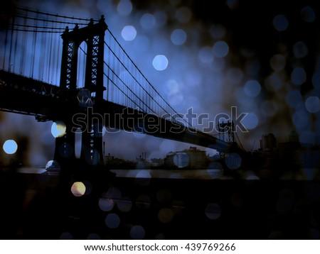NYC Bridge 3D Render - stock photo
