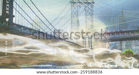 NYC Composition - stock photo