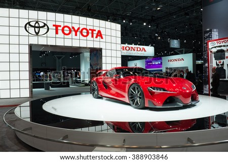 NYC   March 2015 : The Toyota FT 1 Concept On Display At The NY