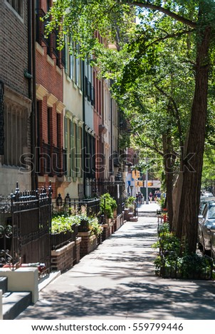 NYC street with residential buildings