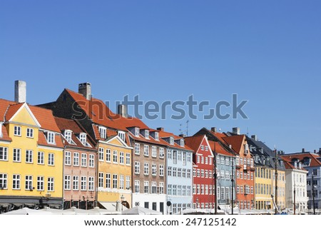 Nyhavn district of Copenahgen, Denmark. - stock photo