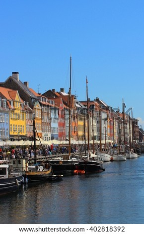 Nyhavn in Copenhagen, Denmark - stock photo
