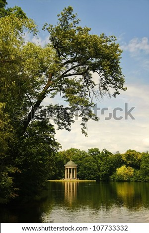 Nymphenburg Palace in Munich - stock photo