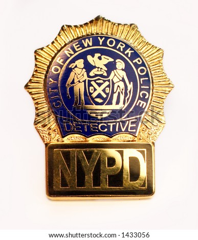 Nypd Police Detective Badge Close On Stock Photo (Royalty ...