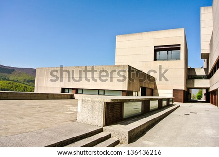 O��ATI, SPAIN - APRIL 25: A modern building in the Sanctuary of Arantzazu. In 1950 the works for the basilica were started. April 25, 2013 in O�±ati, Basque Country, Spain