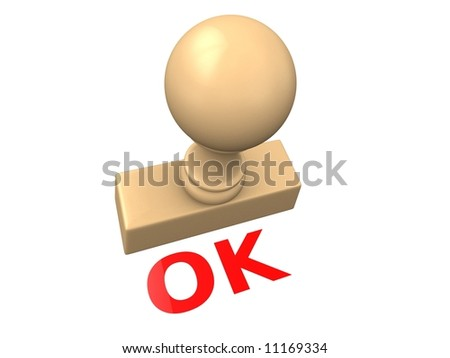 o.k. stamp - stock photo