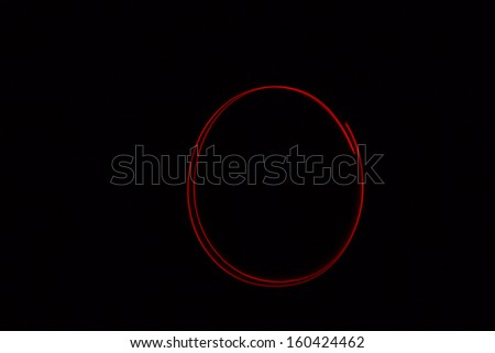 O - torch light alphabet letters - stock photo