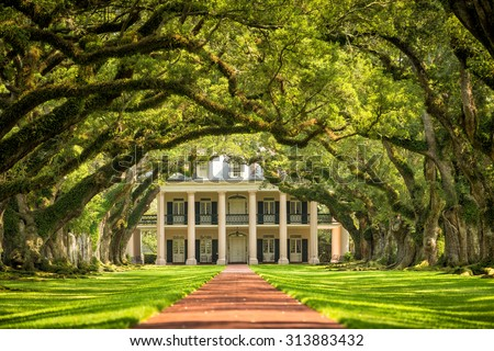 Oak Alley Plantation, Louisiana - stock photo