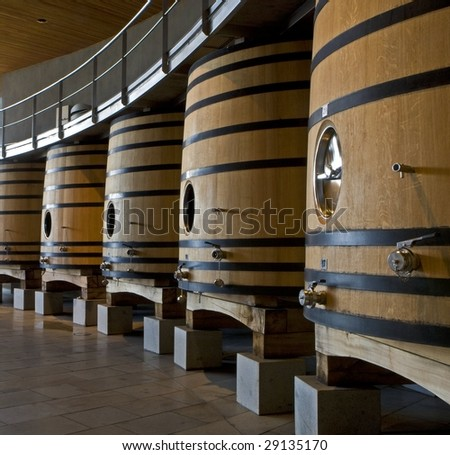 Oak wine barrel - stock photo