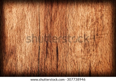 Oak Wood Vignette Grunge Texture Sample. - stock photo