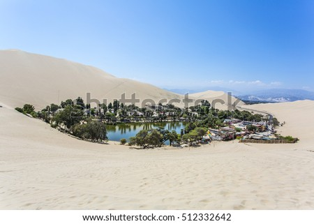 Oasis Huacachina in Peru