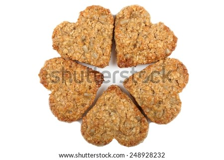 Oat cookies with the addition of sesame and sunflower.