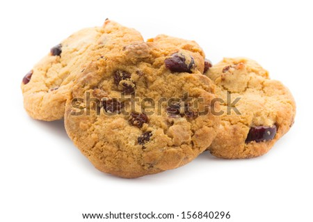 Chocolate Chip Cookies Background Isolated On Stock Photo ...