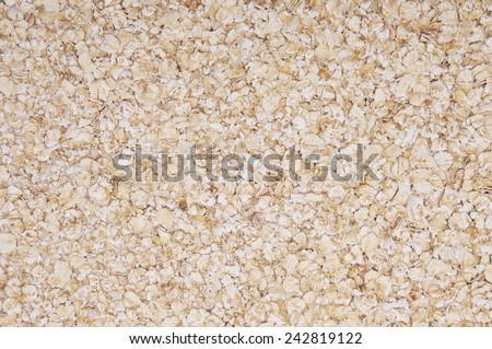 Oatmeal, rolled oats health food background texture  - stock photo