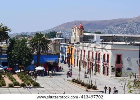 Oaxaca Mexico - 29/04/2016 - City view  from Museo de las Culturas de Oaxaca - stock photo