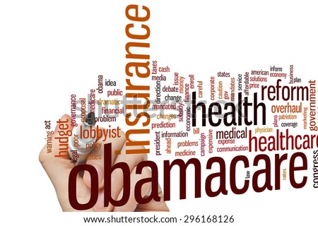 Obamacare concept word cloud background - stock photo
