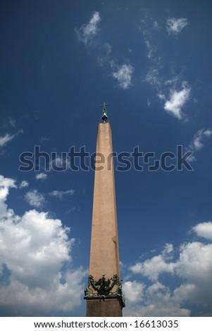 obelisk in vaticano - stock photo