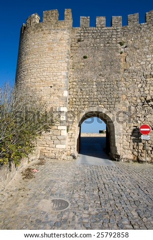 Obidos Castle - stock photo