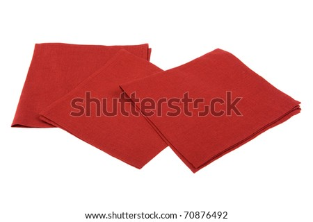 object on white - napkin close up - stock photo