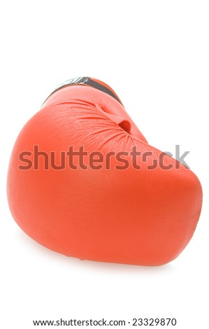 object on white - sport clothes boxing-glove - stock photo