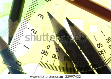object on white - Tool for measurement close up