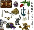 Object sampler with clipping paths - stock photo