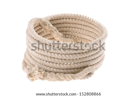 objecton white - isolated Twisted thick rope