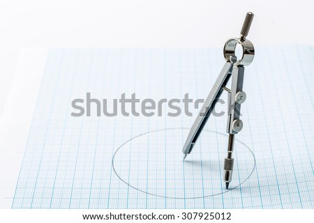 Objects for sketching and of work - stock photo