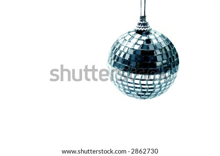 Objects on white: disco ball