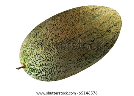 Oblong melon isolated on white