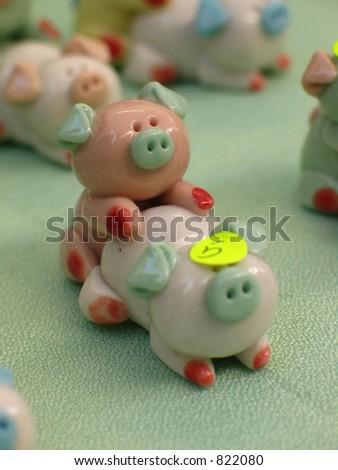 Obscene Pigs - stock photo