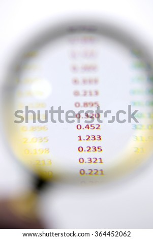 Observation, magnifying glass - stock photo