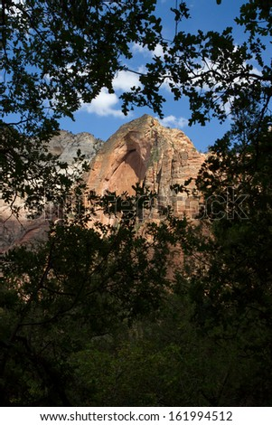 Observation Point - Zion National Park, Utah - stock photo